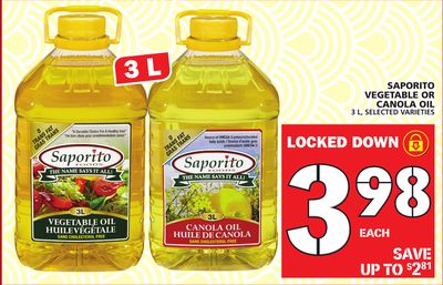 Vegetable Or Canola Oil