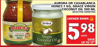Aurora Or Casablanca Honey 1 Kg - Grace Virgin Coconut Oil 500 Ml