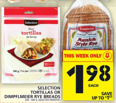 Selection Tortillas Or Dimpflmeier Rye Breads
