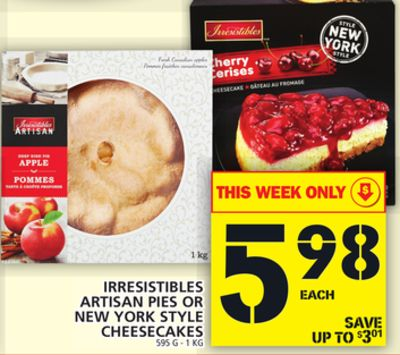 Irresistibles Artisan Pies Or New York Style Cheesecakes