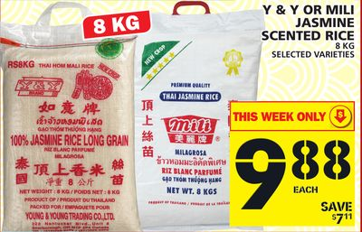 Y & Y Or Mili Jasmine Scented Rice