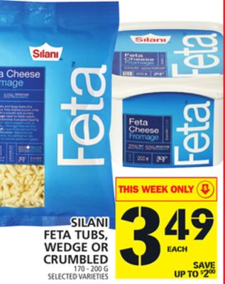 Silani Feta Tubs - Wedge Or Crumbled