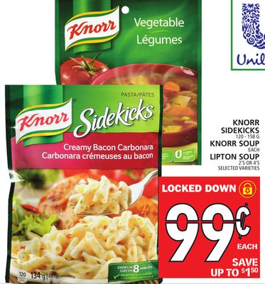 Sidekicks 120 - 158 G Knorr Soup Each Lipton Soup 2's Or 4's