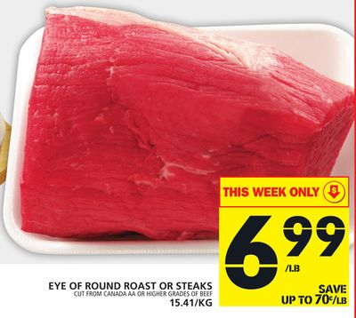 Eye Of Round Roast Or Steaks