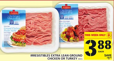 Irresistibles Extra Lean Ground Chicken Or Turkey