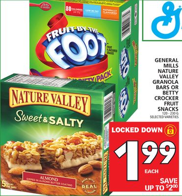 General Mills Nature Valley Granola Bars Or Betty Crocker Fruit Snacks