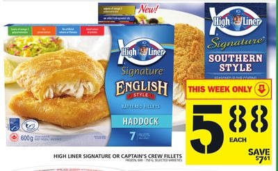 High Liner Signature Or Captain's Crew Fillets