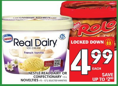 Nestlé Real Dairy Or Confectionary 1.5 L Novelties 4's - 12's