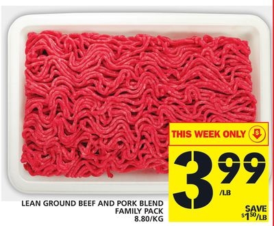 Lean Ground Beef And Pork Blend Family Pack
