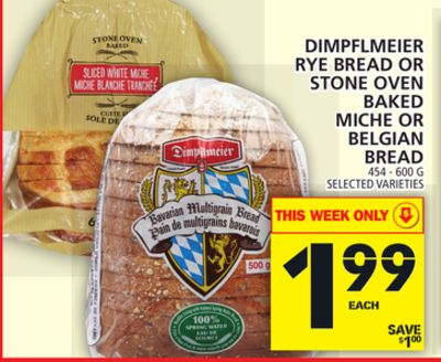 Dimpflmeier Rye Bread Or Stone Oven Baked Miche Or Belgian Bread