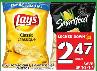 Lay's Potato Chips - Smartfood Or Cheetos