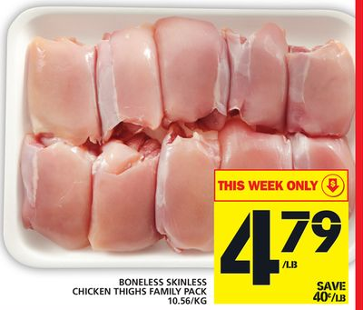 Boneless Skinless Chicken Thighs Family Pack