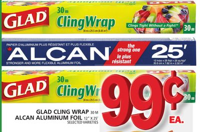 Glad Cling Wrap Or Alcan Aluminum Foil