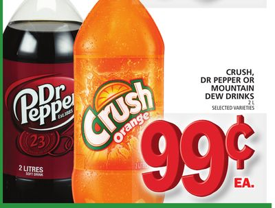 Crush - Dr Pepper Or Mountain Dew Drinks