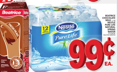 Beatrice Chocolate Milk Or Nestlé Pure Life Natural Spring Water