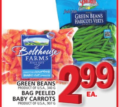 Green Beans Or Bag Peeled Baby Carrots