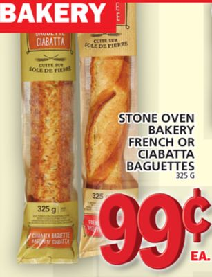 Stone Oven Bakery French Or Ciabatta Baguettes