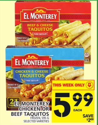 El Monterey Chicken Or Beef Taquitos