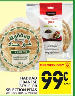 Haddad Lebanese Style Or Selection Pitas