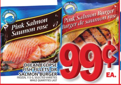 Ocean Eclipse Fish Fillets Or Salmon Burger