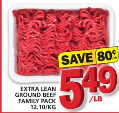 Extra Lean Ground Beef Family Pack