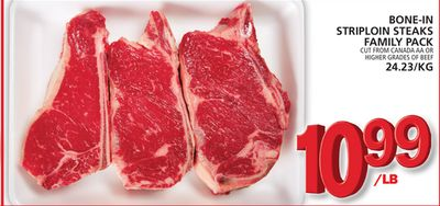Bone-in Striploin Steaks Family Pack