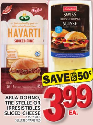 Arla Dofino - Tre Stelle Or Irresistibles Sliced Cheese