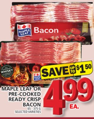 Maple Leaf Or Pre-cooked Ready Crisp Bacon