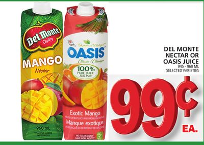 Del Monte Nectar Or Oasis Juice