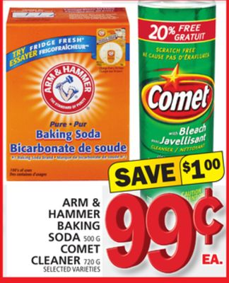 Arm & Hammer Baking Soda Or Comet Cleaner