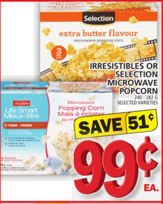 Irresistibles Or Selection Microwave Popcorn