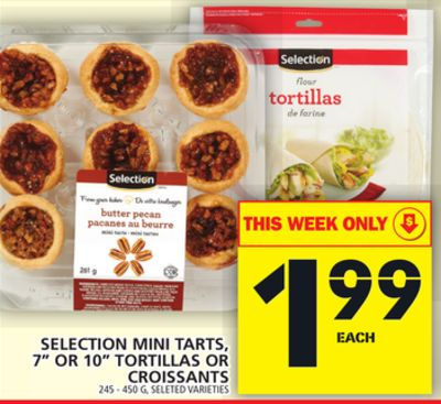 Selection Mini Tarts - 7'' Or 10in Tortillas Or Croissants