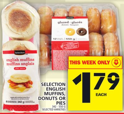 Selection English Muffins - Donuts Or Pies