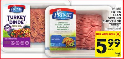 Prime Extra Lean Ground Chicken Or Turkey