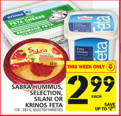 Sabra Hummus - Selection - Silani Or Krinos Feta