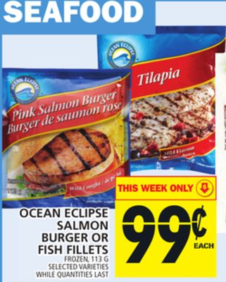 Ocean Eclipse Salmon Burger Or Fish Fillets