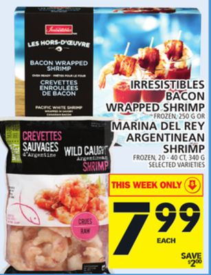 Irresistibles Bacon Wrapped Shrimp Or Marina Del Rey Argentinean Shrimp