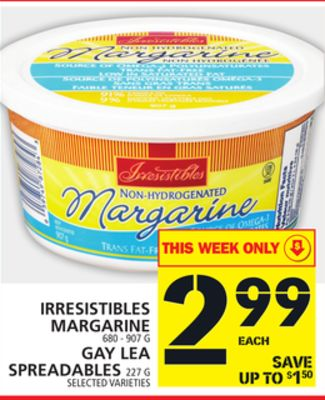 Irresistibles Margarine Or Gay Lea Spreadables