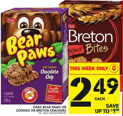 Dare Bear Paws Or Cookies Or Breton Crackers
