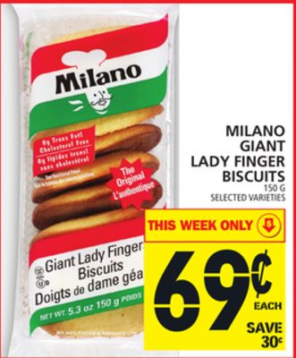 Milano Giant Lady Finger Biscuits