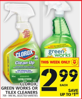 Clorox - Green Works Or Tilex Cleaners