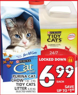 Purina Cat Chow Or Tidy Cats Litter