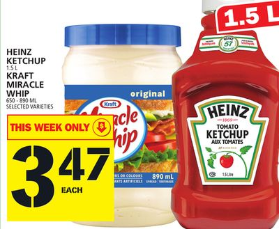 Heinz Ketchup Or Kraft Miracle Whip