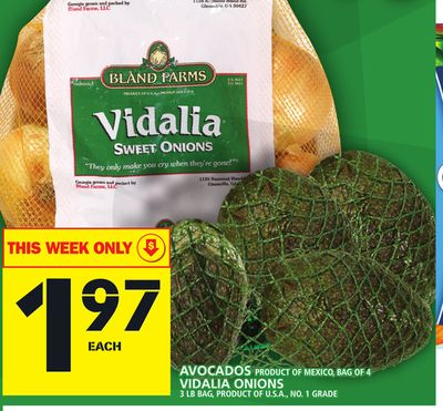 Avocados Product Of Mexico - Bag Of 4 Vidalia Onions