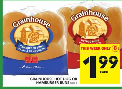 Grainhouse Hot Dog Or Hamburger Buns