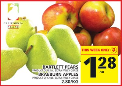 Bartlett Pears Or Braeburn Apples