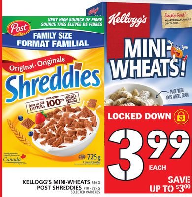 Kellogg's Mini-wheats Or Post Shreddies
