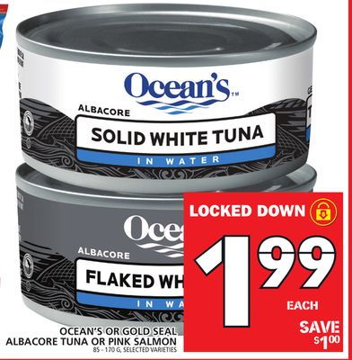 Ocean's Or Gold Seal Albacore Tuna Or Pink Salmon