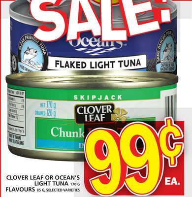 Clover Leaf Or Ocean's Light Tuna Or Flavours