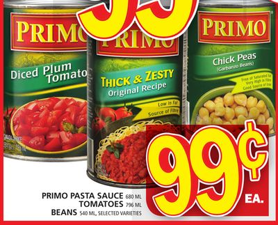 Primo Pasta Sauce - Tomatoes Or Beans